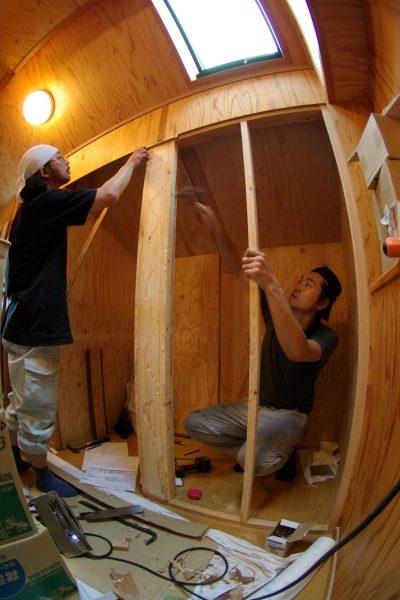 トイレを作るスペースを作っています