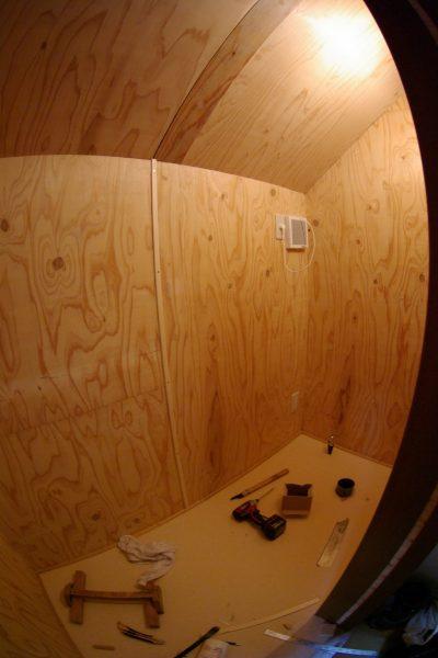 トイレを作るスペースができました