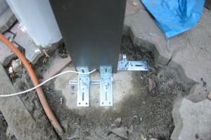 機能的な門柱を設置