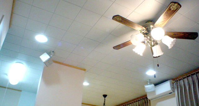 省エネも考慮したリビングダイニング・庭の照明 施工事例