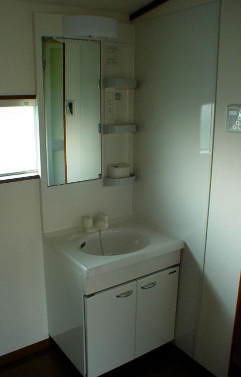 アパートの大家さん必見 洗面所 脱衣室ナシから有り物件へのリフォーム