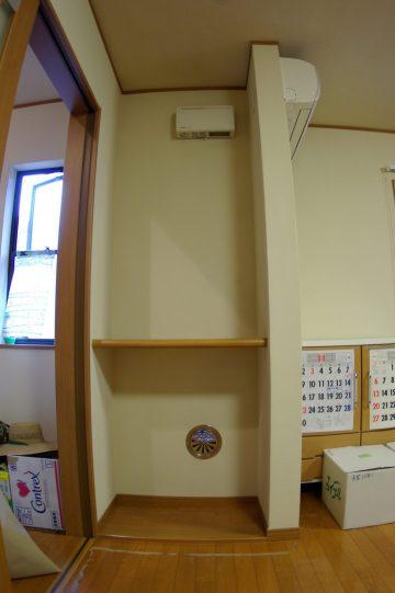 棚板を自由に動かすことのできる便利な棚をオーダーで新設