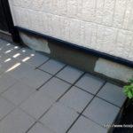 玄関横に原因不明の漏水!原因調査から漏水修理完了までの事例