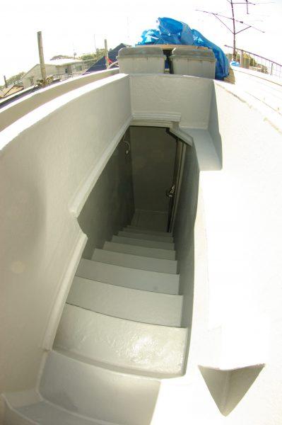 ヘーベルハウスの屋上階段