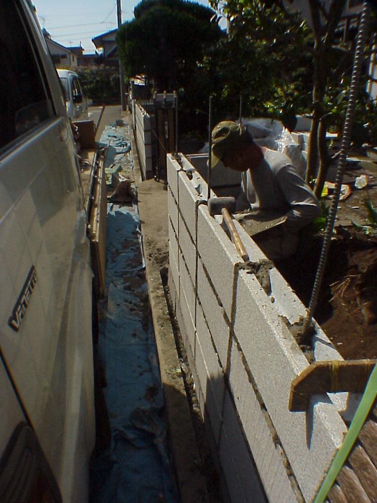 古くなったブロック塀を、きれいに安全にリフォームした事例