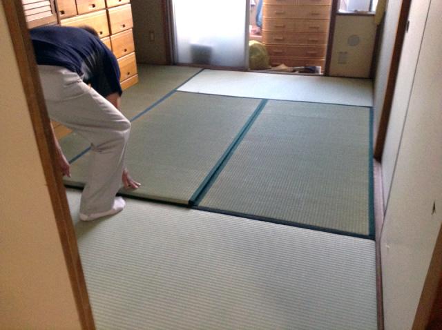都営住宅にて 現状復帰にも配慮して床リフォーム