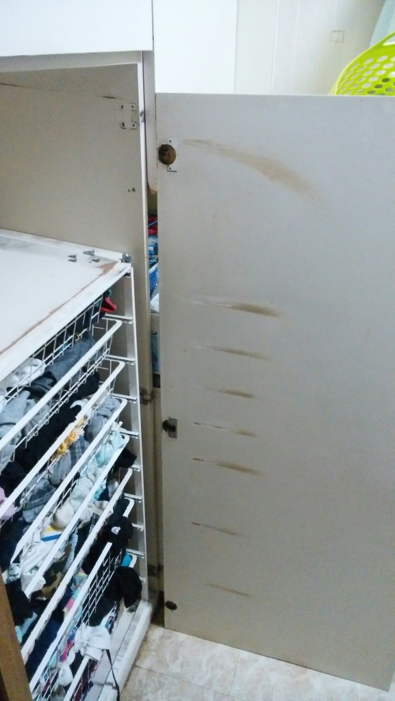 マルバー社ドラム式ビルトイン洗濯機を撤去 国産洗濯機を設置できるようにリフォーム