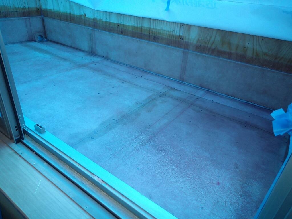 新築注文住宅のベランダFRP防水工事 はじめにしっかり防水!がおすすめです