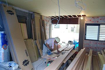 1階車庫を居室に改装リフォーム