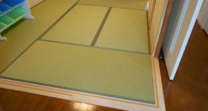 畳とフローリングを仕切る敷居の交換リフォーム