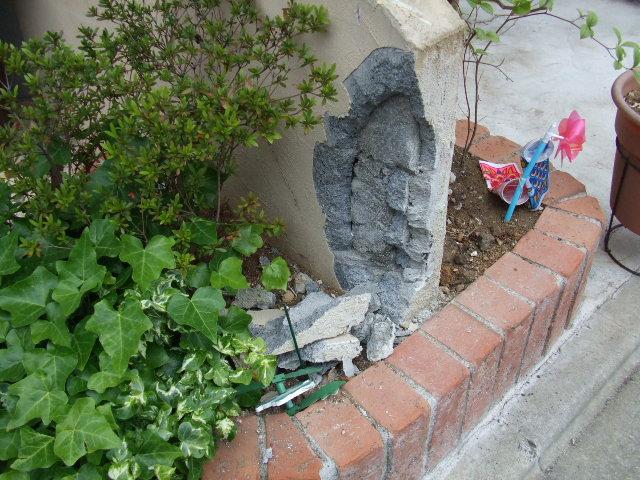 事故で壊れた玄関アプローチを修復 以前のイメージを踏襲してリフォームします