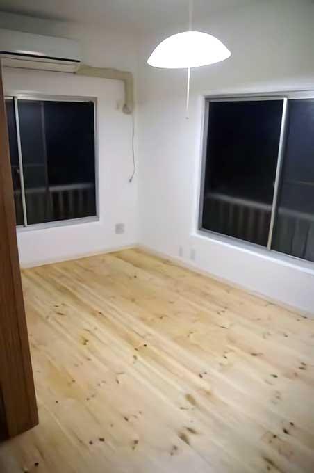 一軒家の洋室のフローリングを床断熱で温かく再生