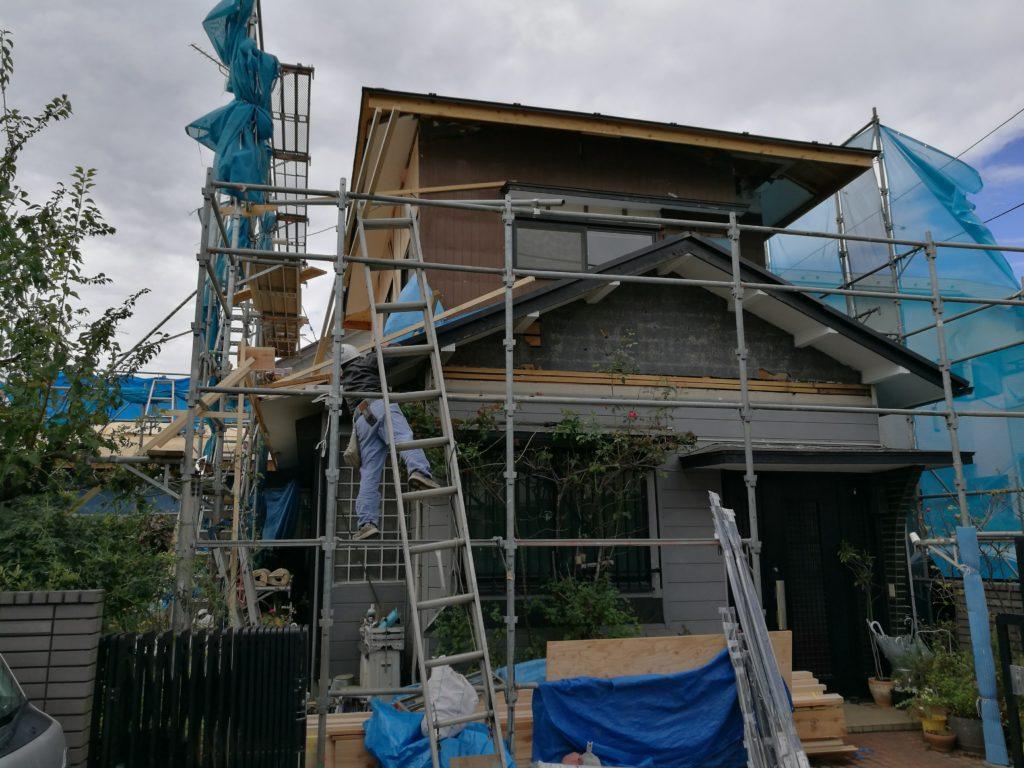 増築と同時に施工 2階ベランダの設置