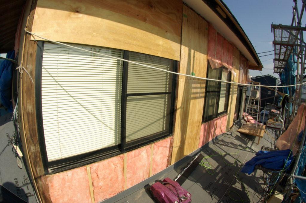 増築と同時に施工 外壁の断熱工事