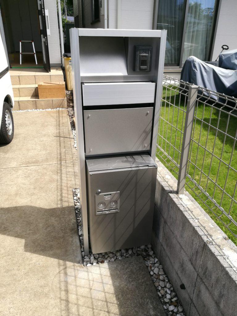 建売住宅のインターフォンを撤去し宅配ボックス付きにリフォーム