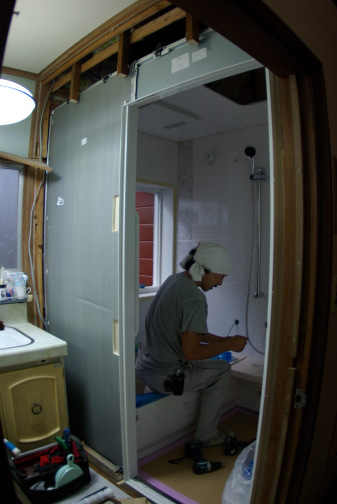 昭和から使い続けている浴室をタカラ・レラージュに交換