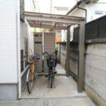 雨ざらしの自転車置き場を屋根付きにリフォーム