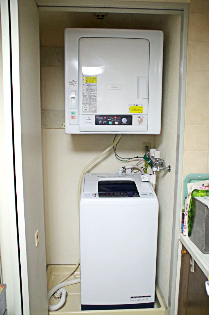 賃貸物件の洗濯機&衣類乾燥機をリフォーム