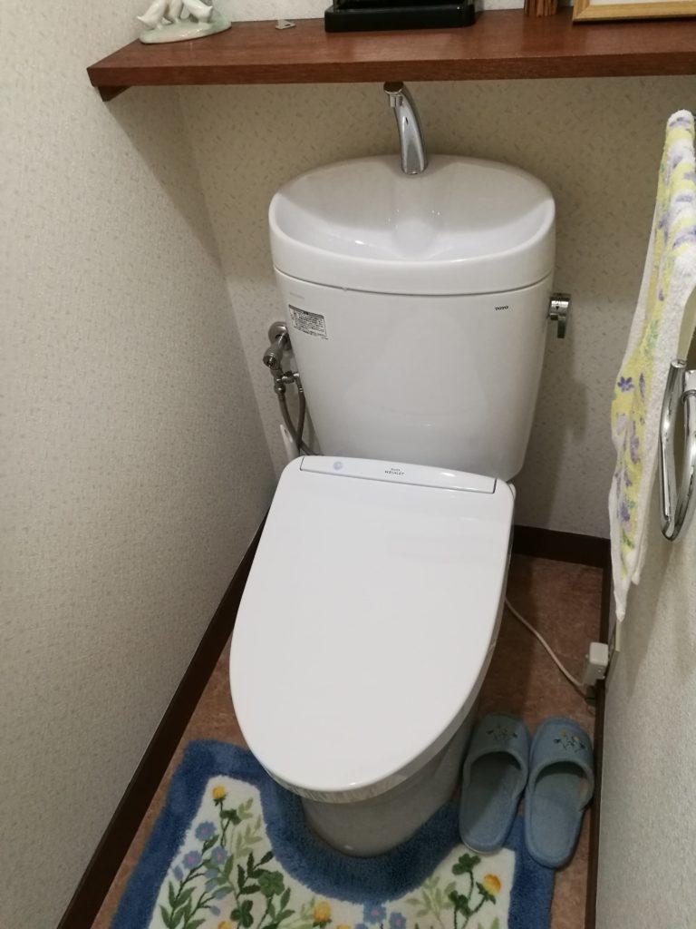 実家のトイレを最新のものへとリフォーム
