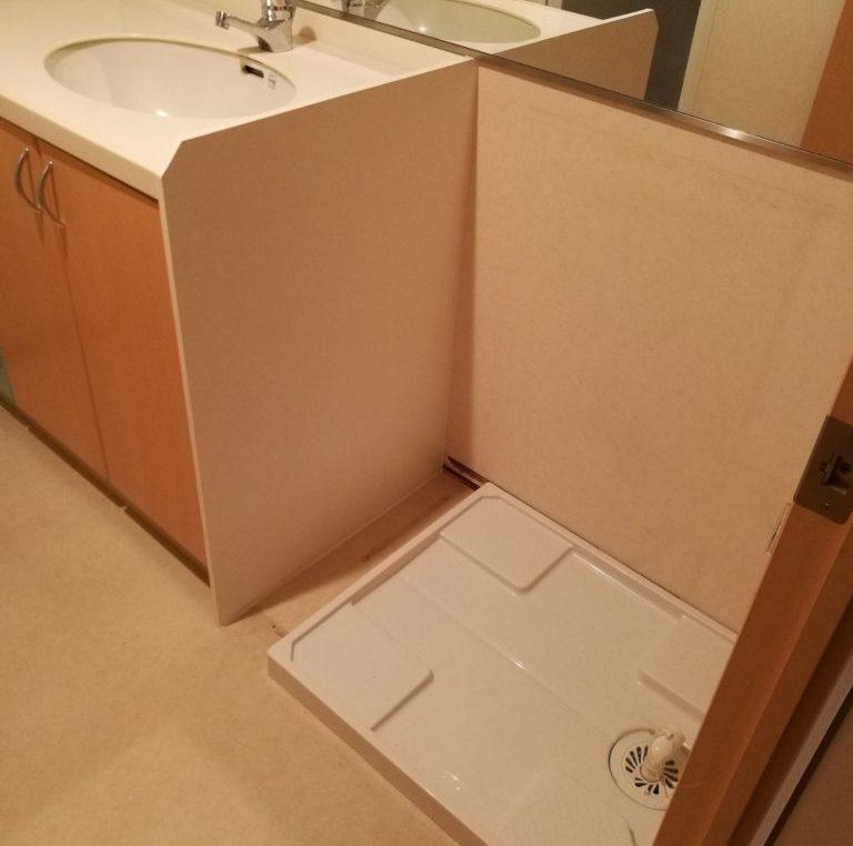 【入居前マンションリフォーム】国産洗濯機置き場を作ります