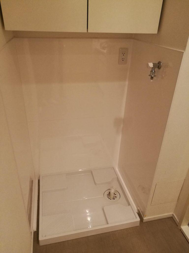 賃貸物件の洗濯機置き場のリフォーム