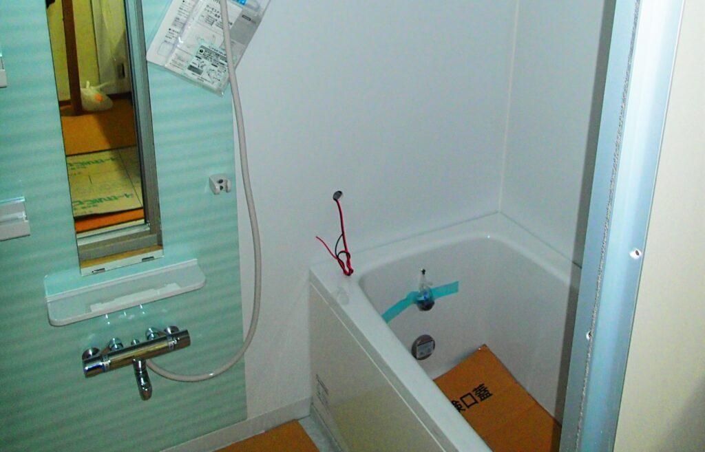 アパートの浴室を交換 在来からUBへ