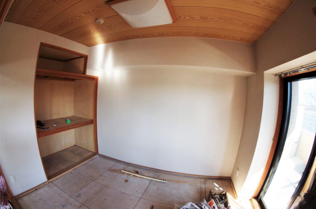 リビング横の和室をリフォーム。広いリビングを実現