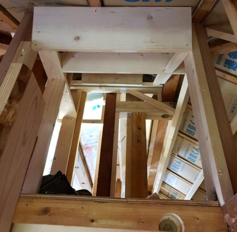一戸建て2階をロフト付きに大規模内装リフォーム②