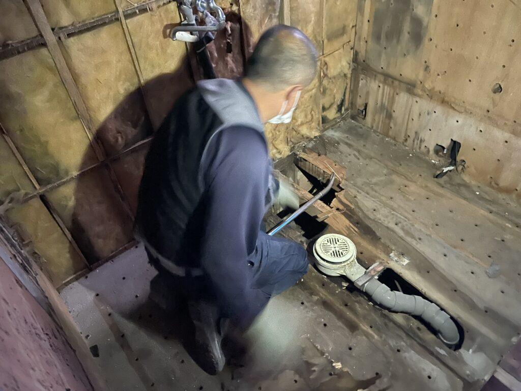 水漏れ 浴室リフォーム