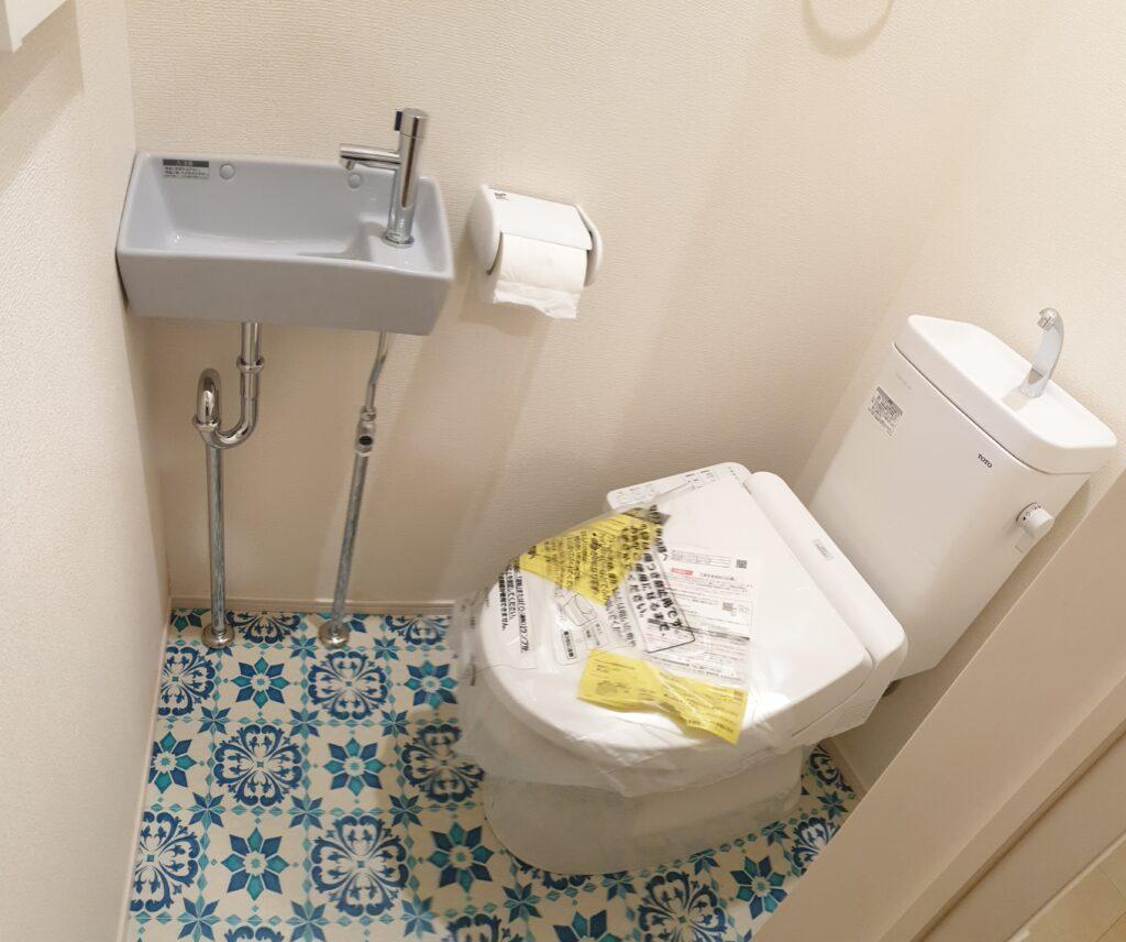 トイレリフォーム:手洗い器を増設